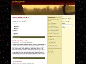 WP Theme PRusti - 3 column widget enabled wordpress theme