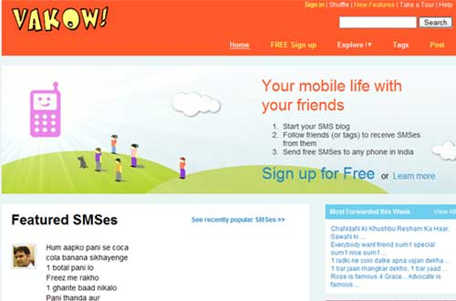Vakow.com Home page