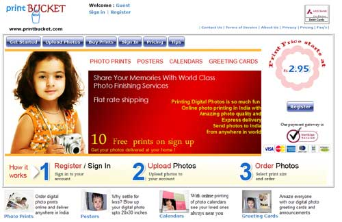 PrintBucket.com: Indian Online Digital Photo Printing