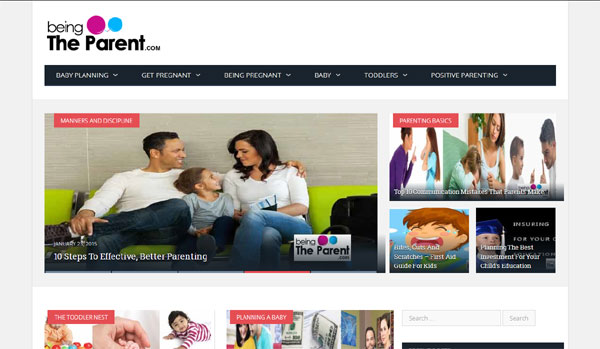 Beingtheparent.com – Parenting and Pregnancy Website by Women